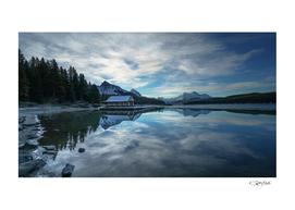 Freeze day in Maligne Lake, Jasper National Park