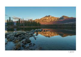 Reflections in Pyramid Lake, Jasper. Canada