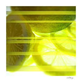 Light & Limes Striped Abstract Design