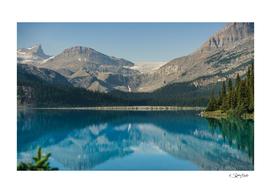 Reflections in Bow Lake, Banff National Park, Alberta Canada
