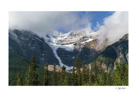 Canada glacier in Banff National Park, 11 Highway. Alberta