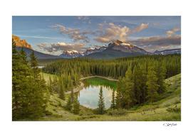 The Hearth Lake, in Banff National Park. Alberta, Canada