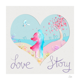 открытка Love story 2