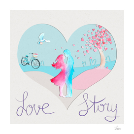открытка Love story 3