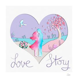 открытка Love story 4