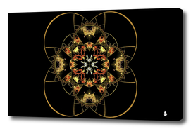 Fractal stained glass ornate