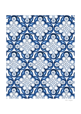Indigo Blue Moroccan Tile Glam #2 #pattern #decor #art
