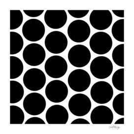 Black Circles Polka Dot Pattern
