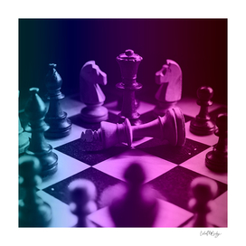 Chess Game & Cool Gradient