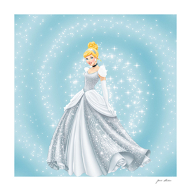 Disney Glitter  Beautiful Princess Cinderella