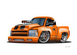 Custom Cartoon  Orange  Monster Truck
