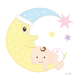 Custom Baby Over The Moon