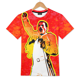 Freddie Mercury | Splatter Series | Pop Art