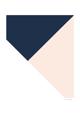 Navy Blue meets Blush & White Geometric #1 #minimal #decor