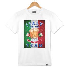 Italy Drinking Team, ITALIA, T-shirt, beer poster