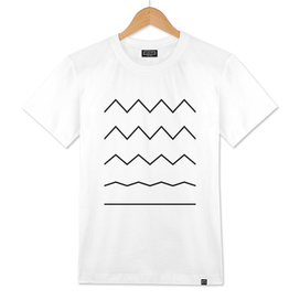 Geometric Stripes, Abstract design, black and white design