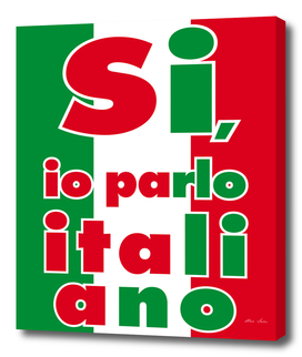 Si io parlo italiano, Yes, I speak italian, Italy poster,