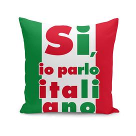 Si io parlo italiano, Yes, I speak italian, Italy poster,