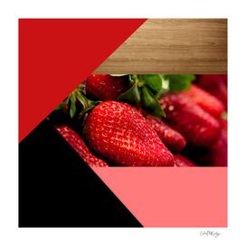 Juicy Strawberries Geometric Shapes & Wood