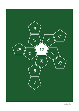 Green Unrolled D12