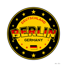 Berlin, Germany, Deutschland, yellow and black