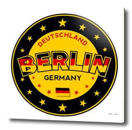 Berlin, Germany, Deutschland, yellow and black