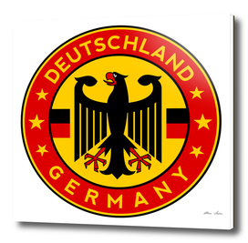 Germany poster, Deutschland poster, with COAT OF ARMS