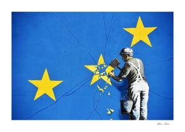 Banksy, Euro stars, edited, cut verion, Banksy poster