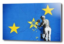 Banksy, Euro stars, edited, cut verion, Banksy poster