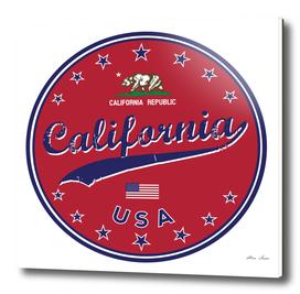 California, red circle, California poster, t-shirt