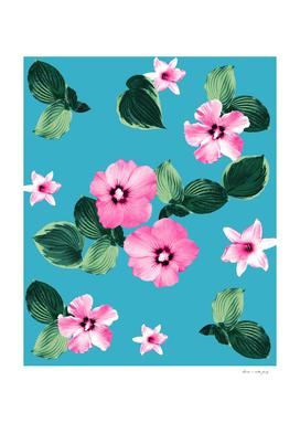 Pink Blue Summer Floral Dream #1 #flower #pattern #decor