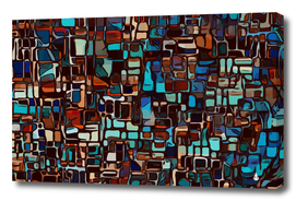 Stained glass mosaic abstract