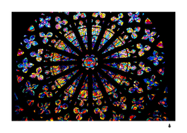 Church stained glass windows colors
