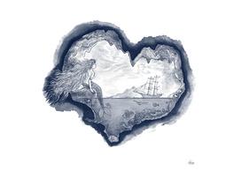 Romantic mood mermaid