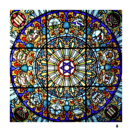 Vitrage stained glass church window