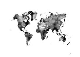 map black and white #map #world