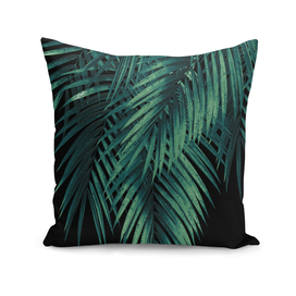 Palm Leaves Green Night Vibes #1 #tropical #decor #art