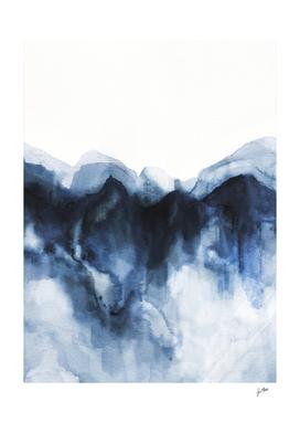 Abstract Indigo Mountains
