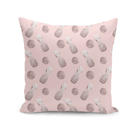 Pineapple Pattern with Happy Polka Dots #1 #decor #art