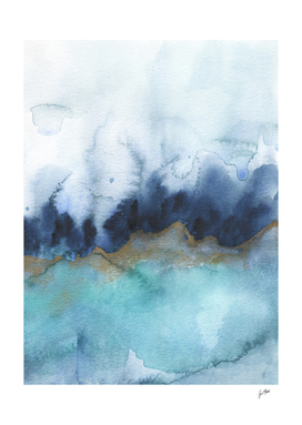 mystic abstract watercolor