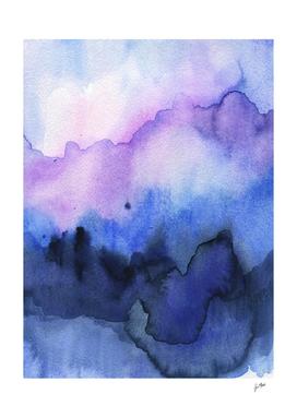 purple navy waves