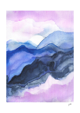 Mountains abstract watercolor