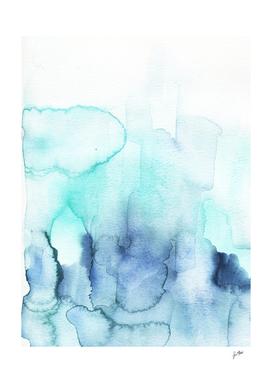 Wanderlust Teal Blue Watercolor