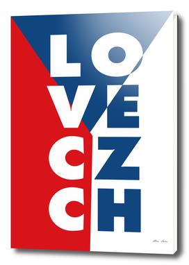 LOVE CZECH, Praha Prague, Czech Republic Poster, Canvas