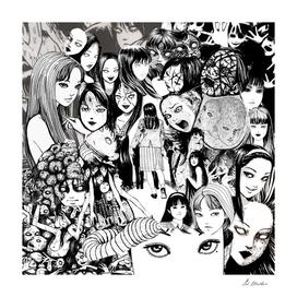 Junji ito Tomie Collage