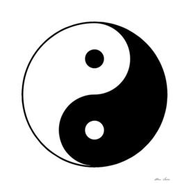 Yin Yang, black and white