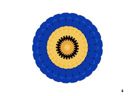 Design circular round pattern