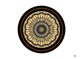 mandala pattern round ethnic