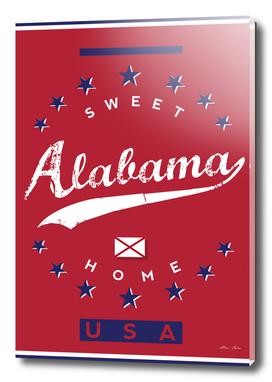 Alabama, Sweet Home, Alabama Poster, red version