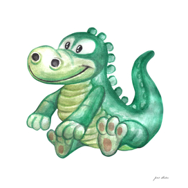 Custom Watercolor Alligator
